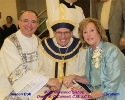 Deacon Bob, Bishop David O'Connell, Elizabeth Pladek